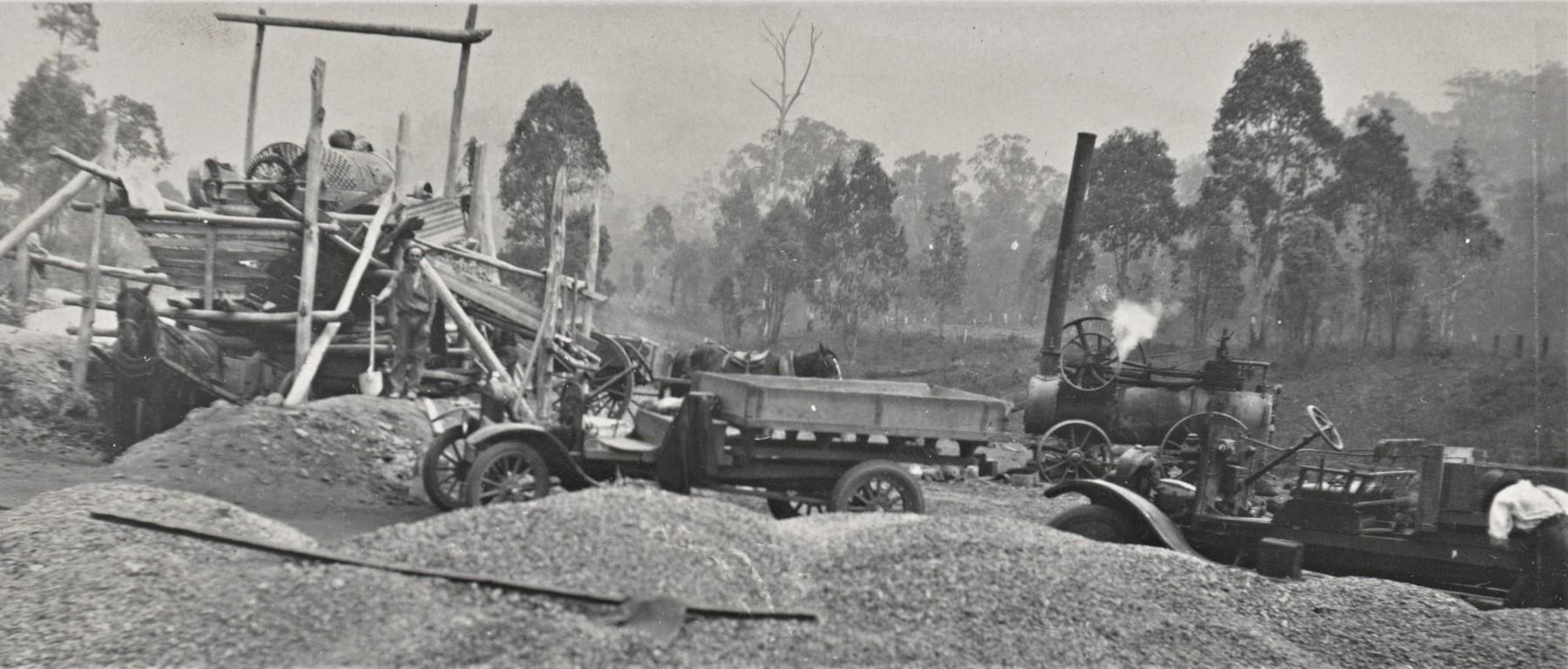 gravel-piles-at-the-crusher-Plantation-Lane-Tawonga